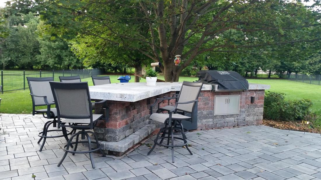 Outdoor kitchen installed at a home in Indianapolis, Indiana